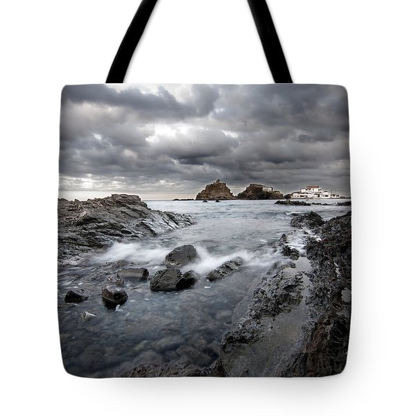 Storm Is Coming To Island Of Menorca From North Coast And Mediterranean Seems Ready To Show Power Tote Bag by Pedro Cardona