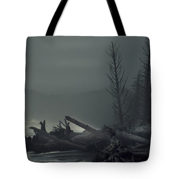 Storm Is Not Over. Tote Bag by Yulia Kazansky