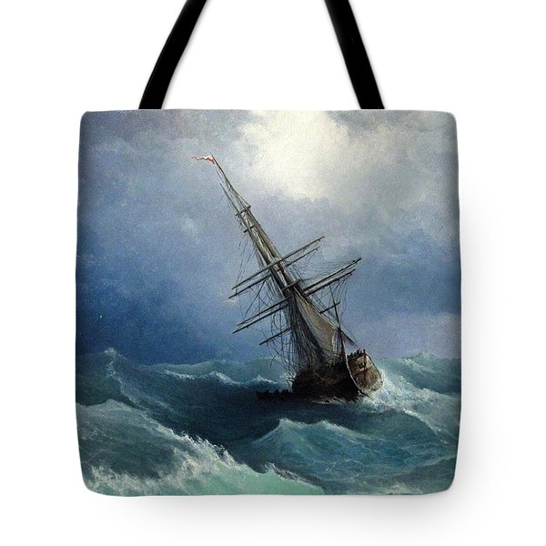 Tote Bag featuring the painting Storm by Mikhail Savchenko