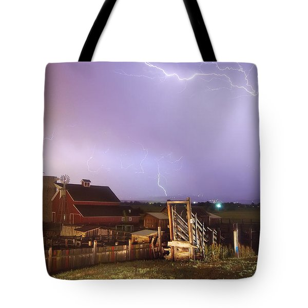 Storm On The Farm Tote Bag by James BO  Insogna