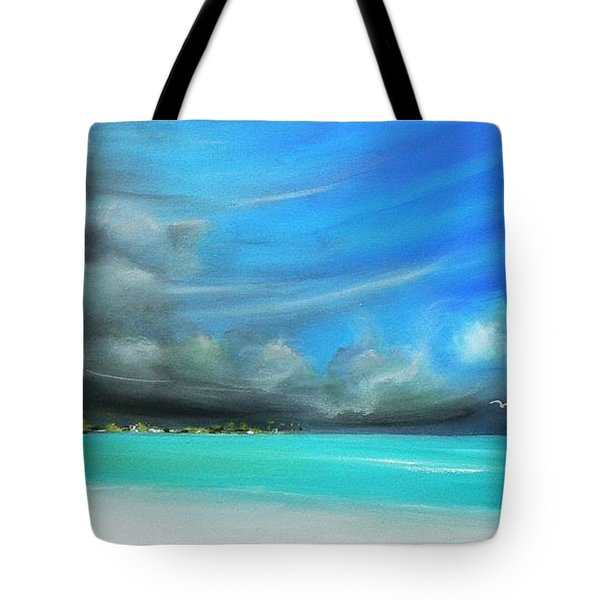 Tote Bag featuring the painting Storm On The Move by S G