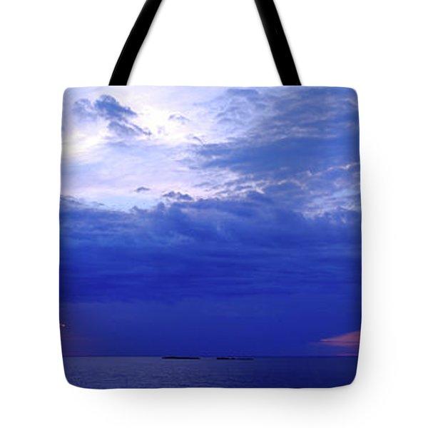 Storm Over A Lake, Lake Superior Tote Bag