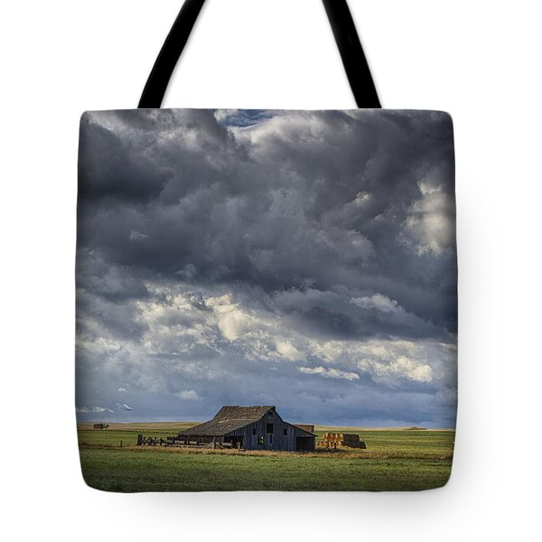 Storm Over Barn Tote Bag