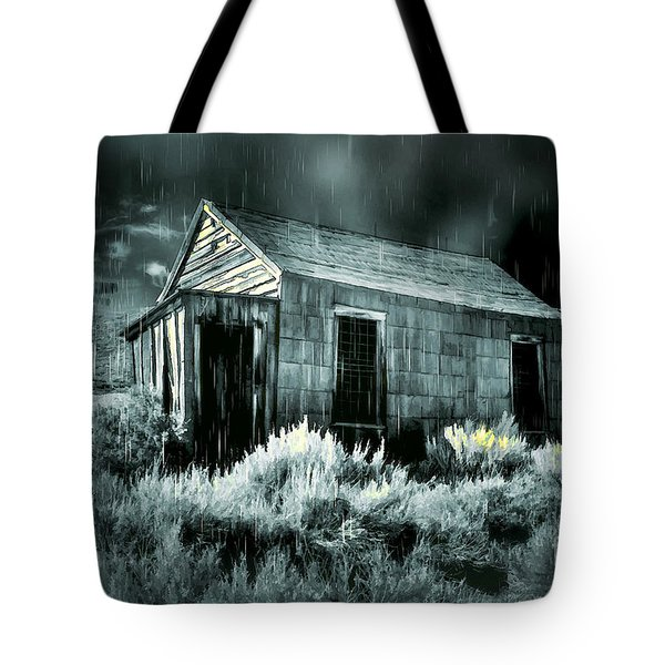 Storm Over Bodie Bordello Tote Bag