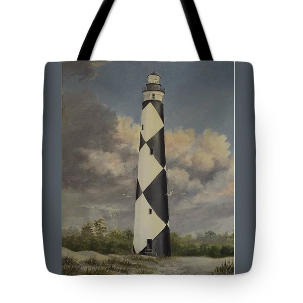 Storm Over Cape Fear Tote Bag by Wanda Dansereau