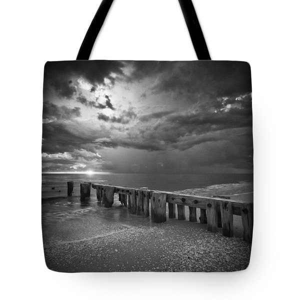 Storm Over Naples Florida Beach Tote Bag by Bradley R Youngberg