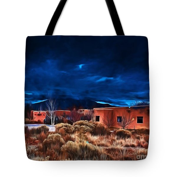 Storm Over Taos Lx - Homage Okeeffe Tote Bag