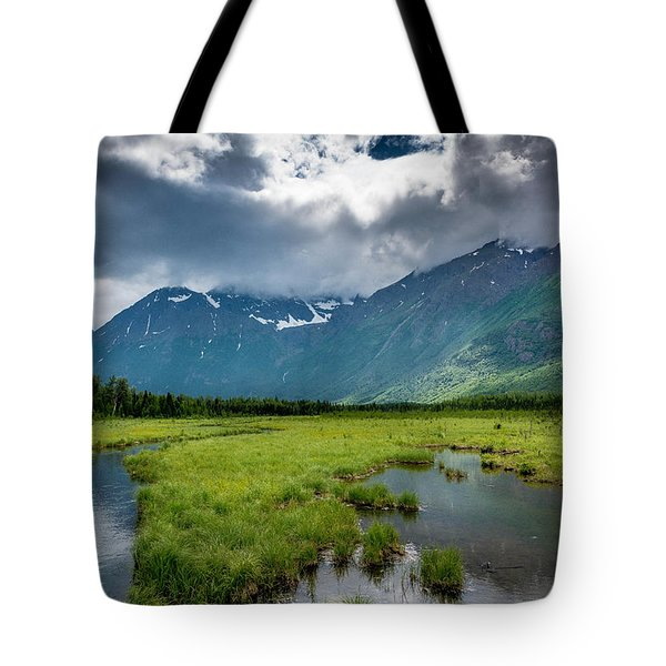 Storm Over The Mountains Tote Bag