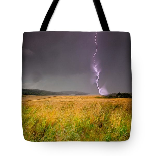 Storm Over The Wheat Fields Tote Bag by Eti Reid