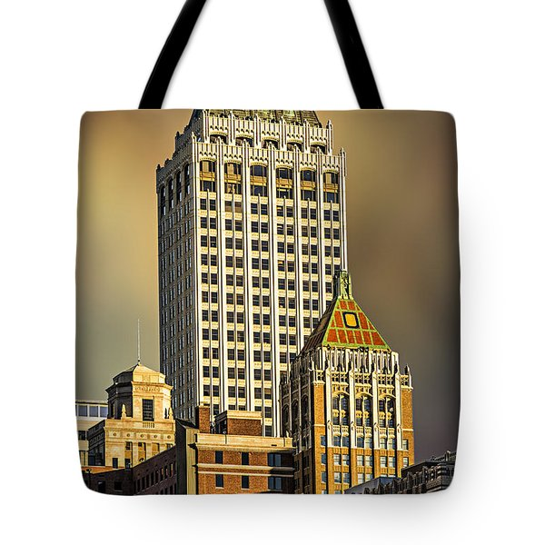 Storm Over Tulsa Tote Bag by Tamyra Ayles