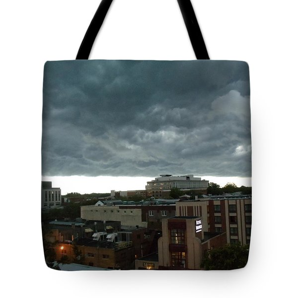 Storm Over West Chester Tote Bag by Ed Sweeney
