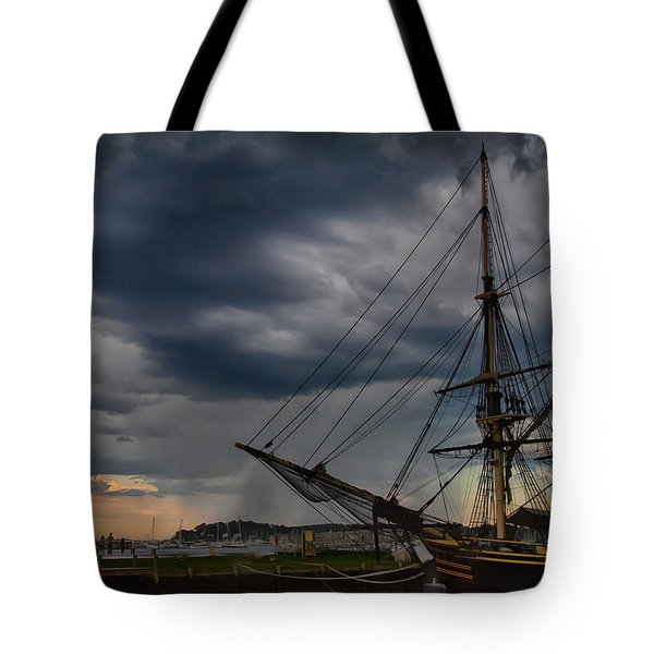 Tote Bag featuring the photograph Storm Passing Salem by Jeff Folger