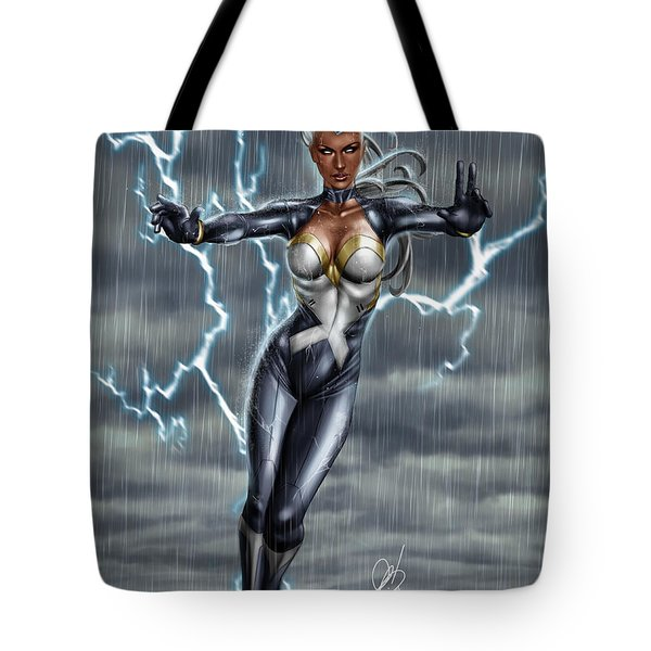 Tote Bag featuring the painting Storm by Pete Tapang