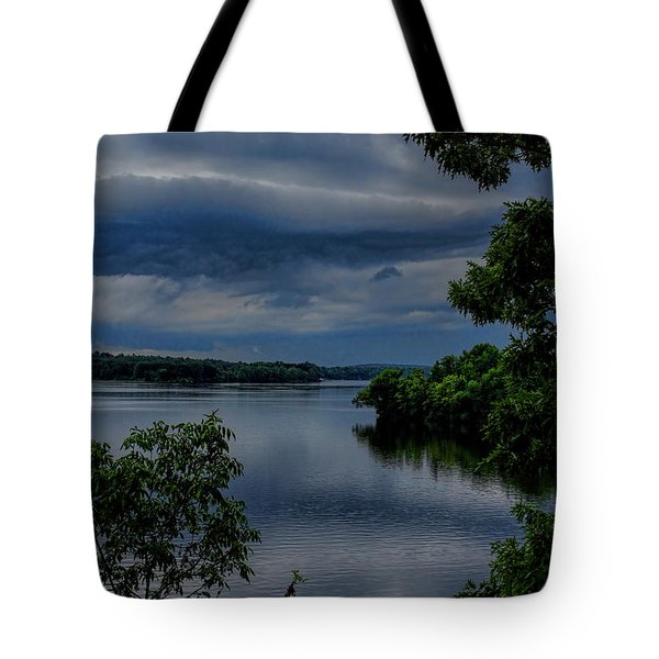 Storm Rolling Over Lake Wausau Tote Bag