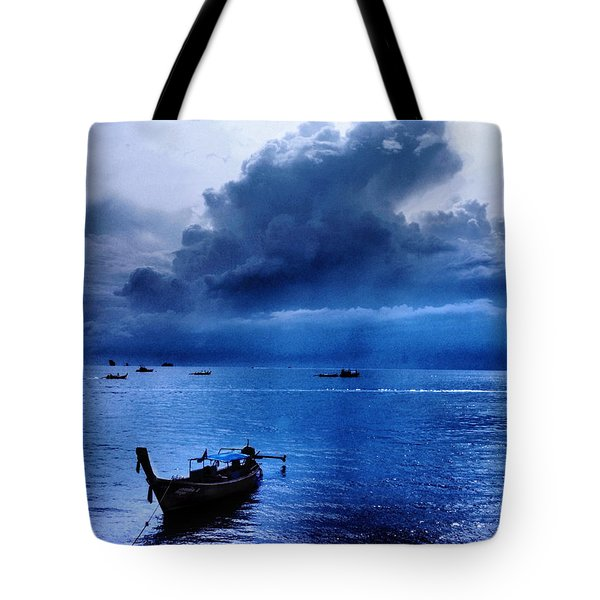 Storm Rolls Over The Sea Tote Bag by Kaleidoscopik Photography