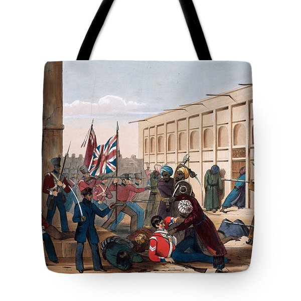Storming Of Khelat, The Troops Entering Tote Bag