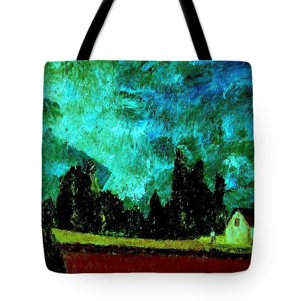 Tote Bag featuring the painting Stormlight by Bill OConnor