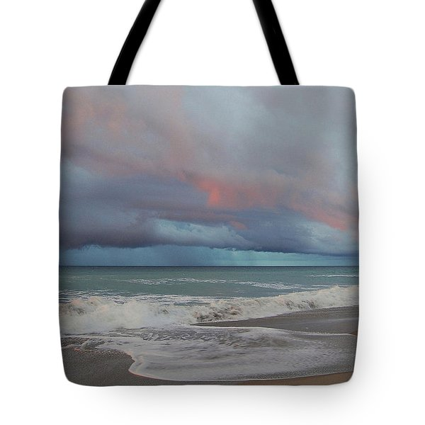 Tote Bag featuring the painting Storms Comin' by Mim White