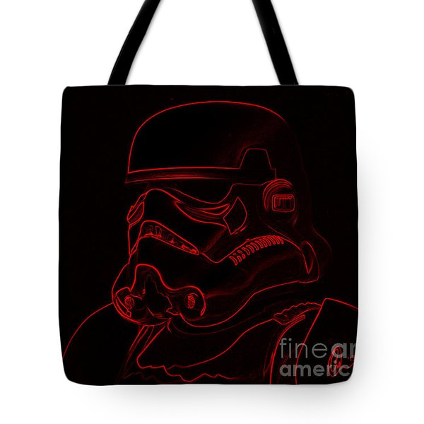 Stormtrooper In Red Tote Bag