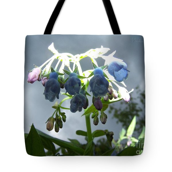 Stormy Bluebells Tote Bag