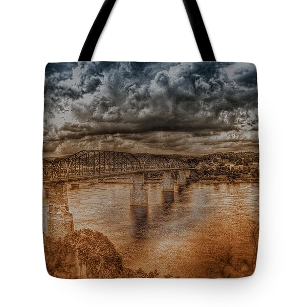 Stormy Clouds Tote Bag by Dennis Baswell