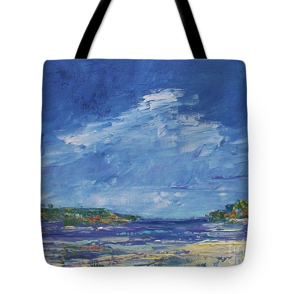 Stormy Day At Picnic Island Tote Bag