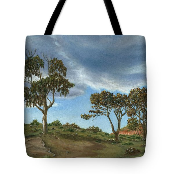 Stormy Eucalyptus Tote Bag