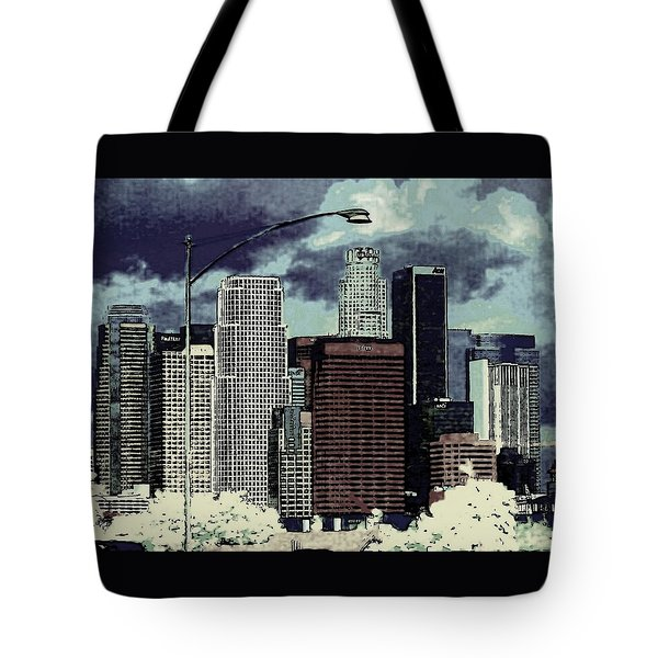 stormy Los Angeles from the freeway Tote Bag