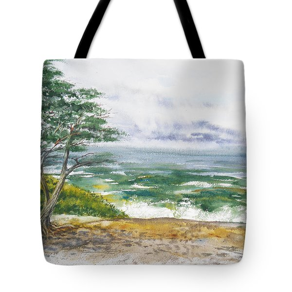 Stormy Morning At Carmel By The Sea California Tote Bag