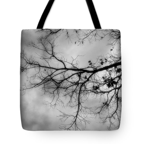 Stormy Morning In Black And White Tote Bag