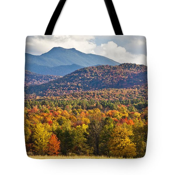 Stormy Mount Mansfield Tote Bag by Alan L Graham