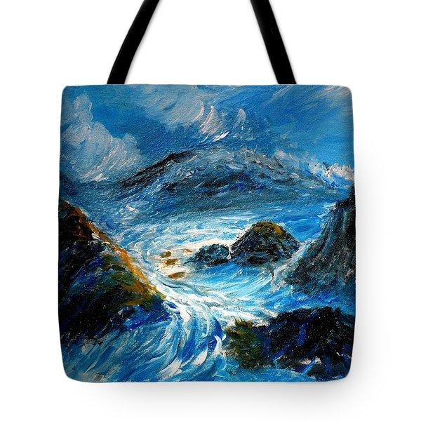 Stormy Sea Tote Bag by Mauro Beniamino Muggianu