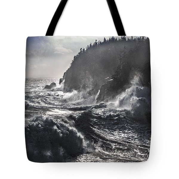 Stormy Seas At Gulliver's Hole Tote Bag