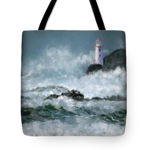 Stormy Seas Tote Bag