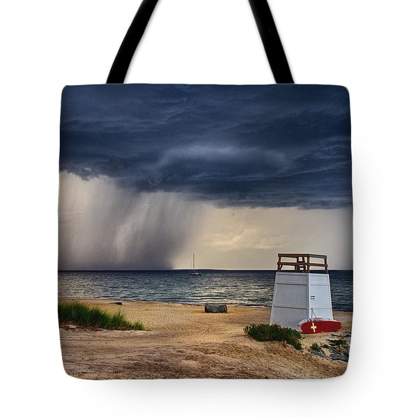 Stormy Seashore Tote Bag