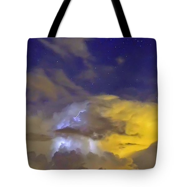 Tote Bag featuring the photograph Stormy Stormy Night by Charlotte Schafer