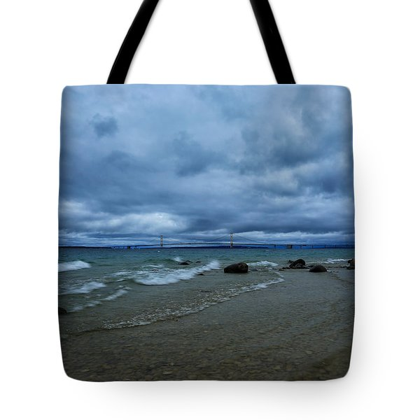 Stormy Straits Tote Bag