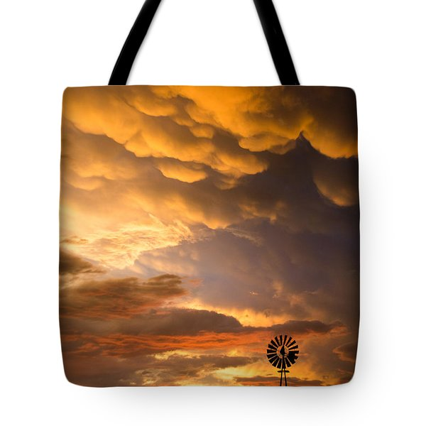 Stormy Sunrise Tote Bag