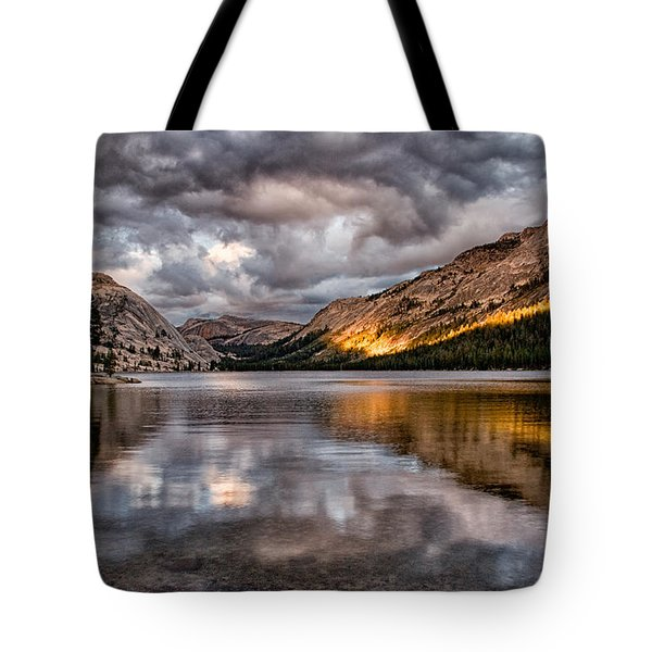 Stormy Sunset At Tenaya Tote Bag by Cat Connor