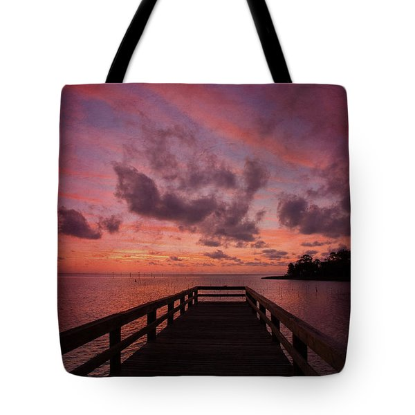 Stormy Sunset Tote Bag by Beverly Stapleton