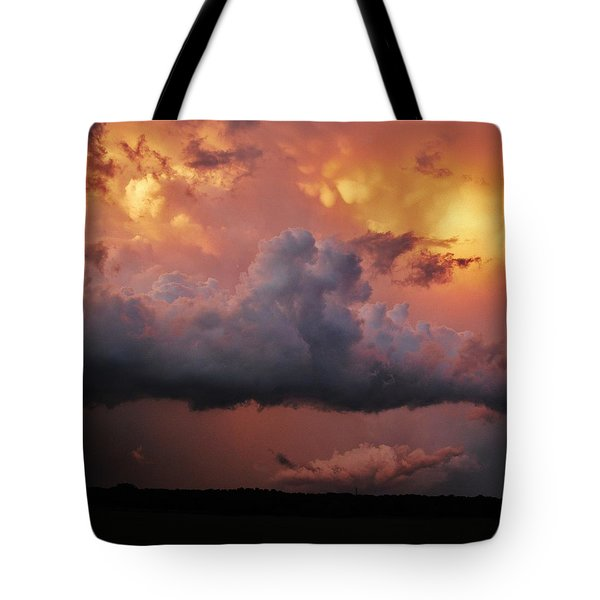 Stormy Sunset Tote Bag by Ed Sweeney