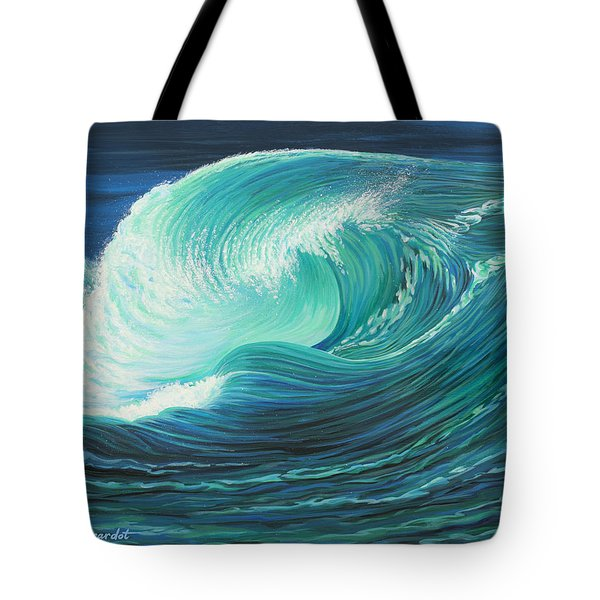 Stormy Wave Tote Bag