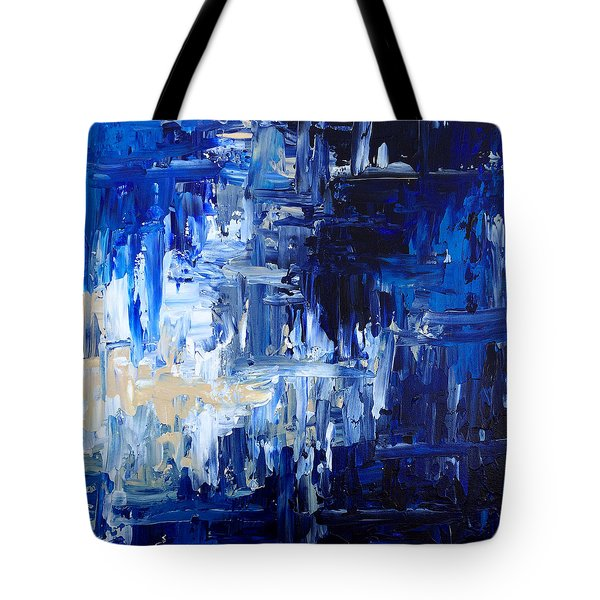 Stormy Waves Tote Bag by Rebecca Davis
