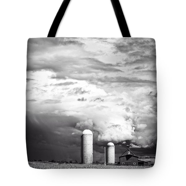 Stormy Weather On The Farm Tote Bag by Edward Fielding