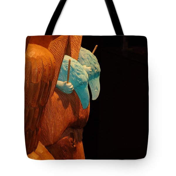 Tote Bag featuring the photograph Story Pole by Cheryl Hoyle