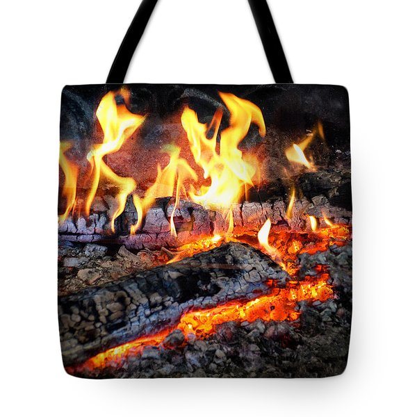 Stove - The Yule Log  Tote Bag by Mike Savad
