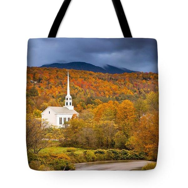 Stowe Church Tote Bag by Brian Jannsen