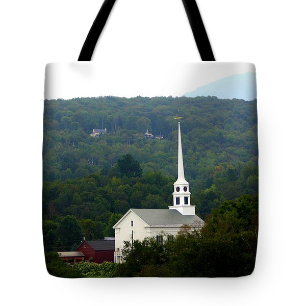 Stowe Community Church Tote Bag by Patti Whitten