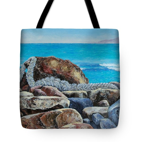 Tote Bag featuring the painting Stranded by Susan DeLain