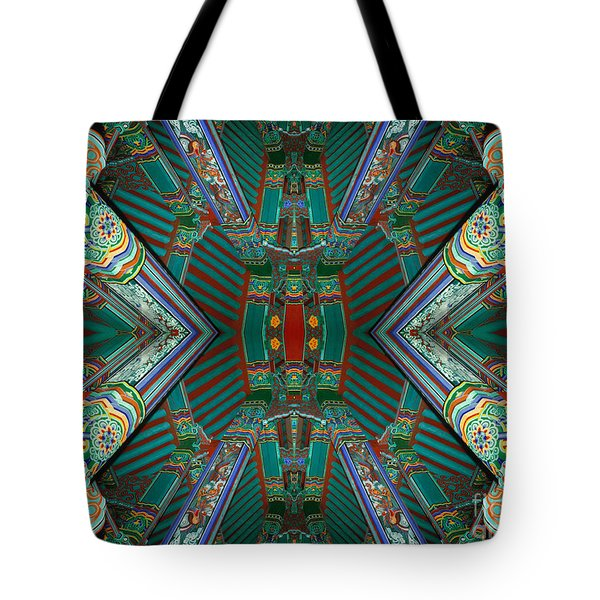 strange architecture surrealism photography - Beam Me Up VI Tote Bag